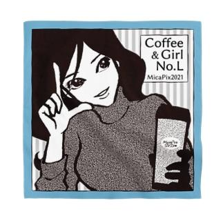 "MicaPix/SUZURI店のCoffee&Girl ""No.L"" Bandana"