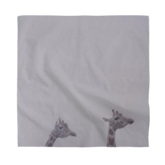Fog and giraffe Bandana