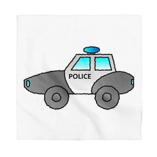警察車両 Police Car Bandana