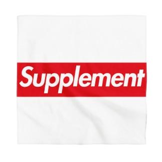 Supplement-サプリメント-赤BOXロ ゴ Bandana