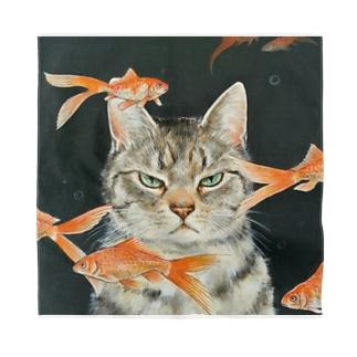 金魚と猫 Bandana