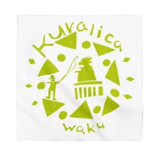 WAKUWAKUサーカス/グリーン Bandana
