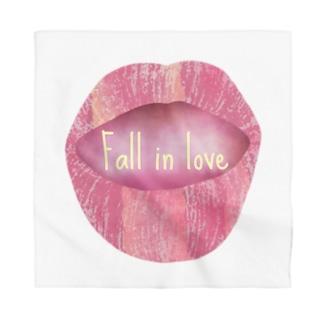 Lips💋 foll in love Bandana