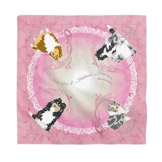 Five colors of Shetland Sheepdogs.~Pink~ Bandana