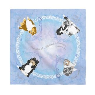 Five colors of Shetland Sheepdogs.~Blue~ Bandana