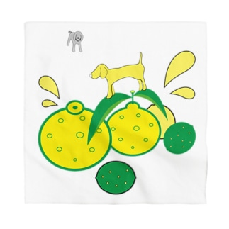 Dogs on the 5 Citrus Bandana