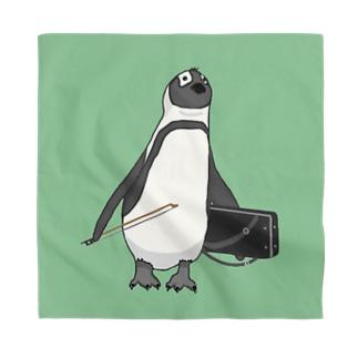 弓をしまい忘れたペンギン みどり Bandana