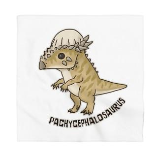 恐竜 パキケファロサウルス Bandana