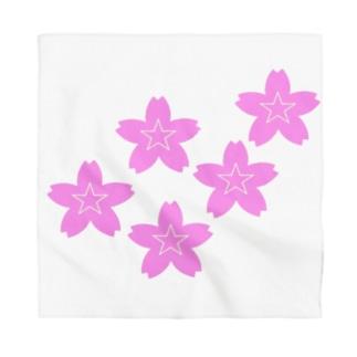 星桜紋(流れ星ピンク) Star cherry blossom Crest (Shooting star pink)) Bandana