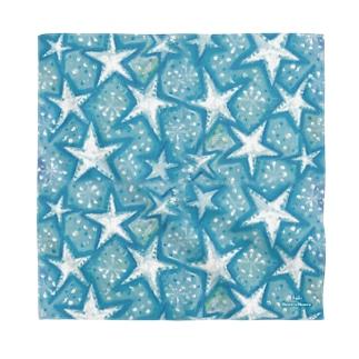 baby blue star Bandana