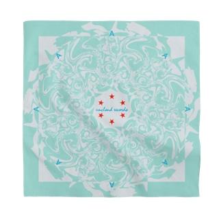 Marble: Radial Mint Blue Bandana