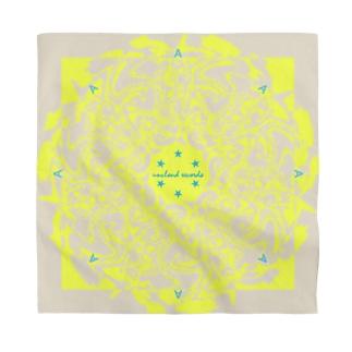 Marble: Radial Beige & Yellow Bandana