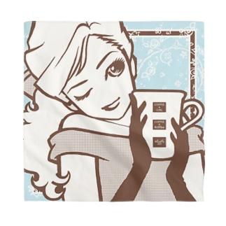 "Coffee&Girl ""No.K"" Bandana"