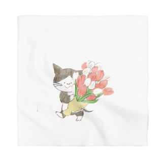 チューリップの花束 Bandana