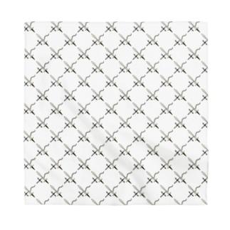 38 サンパチの剣カッチン【ひし形】 ホワイトB Bandana