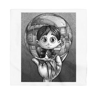 写像球体を持つ森邦子 Bandana