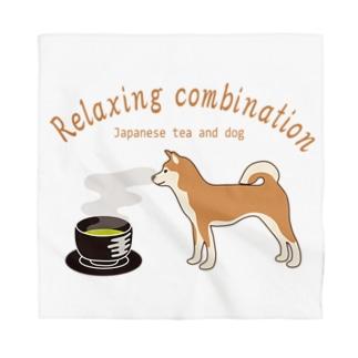 キッズモード某の日本の犬とお茶 カラーバージョン Bandana