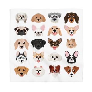 いろいろな犬種のかわいい顔 Bandana