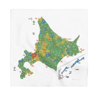 北海道179市町村地図 Bandana