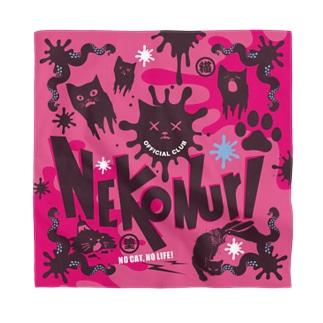 ネコヌリSHOPのネコヌリ バンダナ pink Bandana