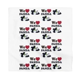 we love パンダ総柄 Bandana