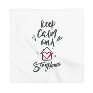 シェアメディカルブランドショップのKeep Calm and Stay Home Bandana