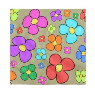 クレヨンらくがき花柄 Bandana