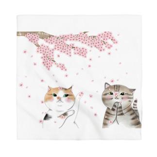 猫と桜 Bandana