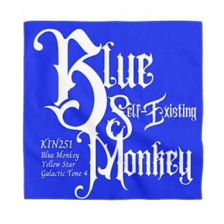 KIN251青い自己存在の猿 Bandana