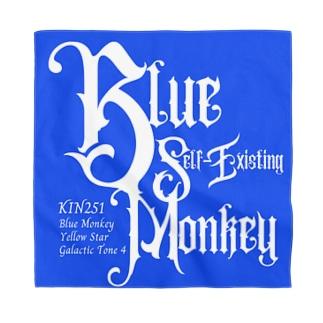マヤ暦★銀河の署名★オンラインショップのKIN251青い自己存在の猿 Bandana