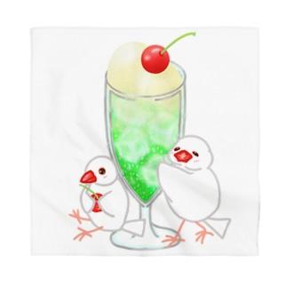 メロンクリームソーダと文鳥ず Bandana