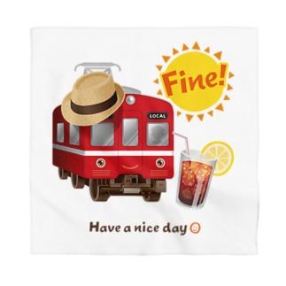 赤い電車 「 Fine ! 」 Bandana
