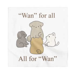"""Wan"" for all, all for ""Wan"". Bandana"