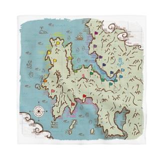 おがつの宝の地図 Bandana