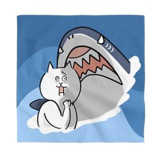 サメに遭遇した猫【背景あり】 Bandana