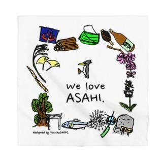 We Love ASAHI(旭Tシャツ表面のイラスト) Bandana