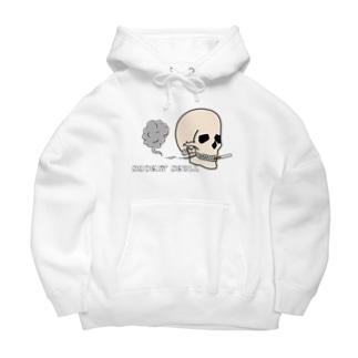 Smokin' Skull Big Hoodies