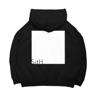 Simple_Square Big Hoodies