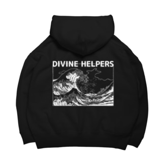 DIVINE HELPERS、7つの徳 White+Logo Big Hoodies