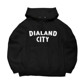 DIALAND CITY WHITE Big Hoodies