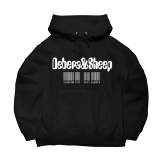 でべらと羊 Wプリント Big Hoodies