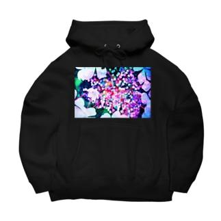 紫陽花 Big Hoodies