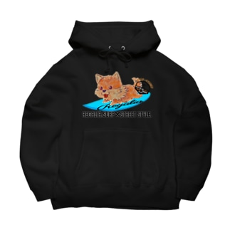 REGALIA dog surf Big Hoodies