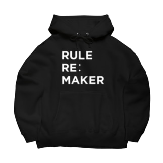 RULE RE:MAKER(白ロゴ) Big Hoodies