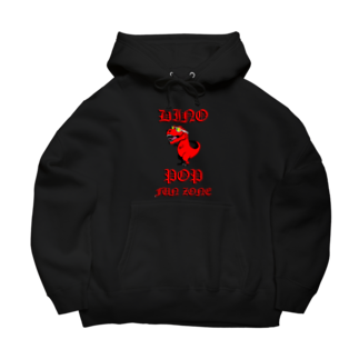 yellowbirdillustrationsのDINOPOP 『RED』 Big Hoodies