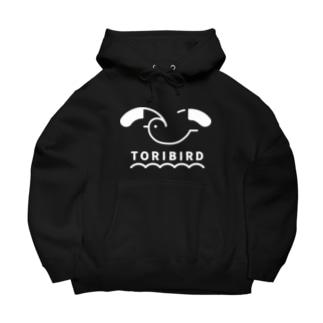 TORIBIRD ホワイト Big Hoodies