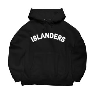ISLANDERS白ロゴ Big Hoodies