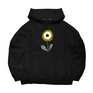 フラワーデザイン「YELLOW FLOWER」 Big Hoodies
