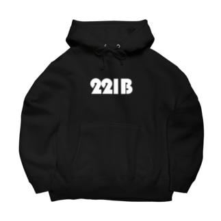 221Bパーカー黒 Big Hoodies