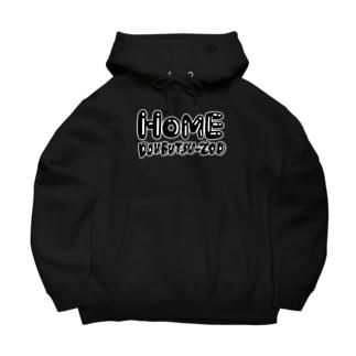 HOME ロゴc Big Hoodies